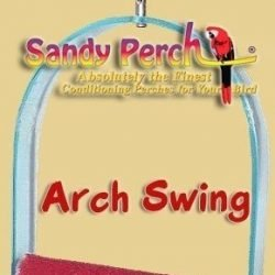parrotopia acrylic arch sandy swing medium 250x250 - Parrotopia Acrylic Arch Sandy Swing Medium