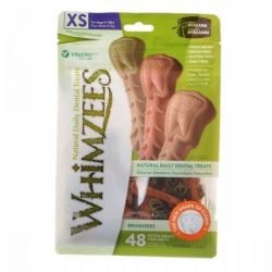 Whimzees Brushzees Dental Treats - X-Small