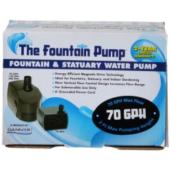 danner fountain pump magnetic drive submersible pump 250x250 - TetraPond Pond Pump (1,900 GPH [For Ponds 1,000-1,500 Gallons])