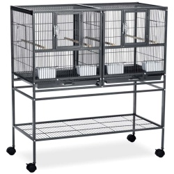 Prevue Pet Products Hampton Deluxe Divided Flight Breeding Cage System with Stand
