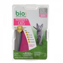 Bio Spot Active Care Flea & Tick Spot On for Cats (Cats 5 lbs - 3 Month Supply)