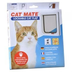 Cat Mate Lockable Cat Flap - White