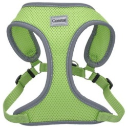 Coastal Pet Comfort Soft Reflective Wrap Adjustable Dog Harness - Lime