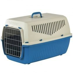 """marchioro skipper f kennel for dogs cats blue skipper 1f 19l x 125w x 1225h 250x250 - Marchioro Skipper F Kennel for Dogs & Cats - Blue (Skipper 1F - [19""""L x 12.5""""W x 12.25""""H])"""