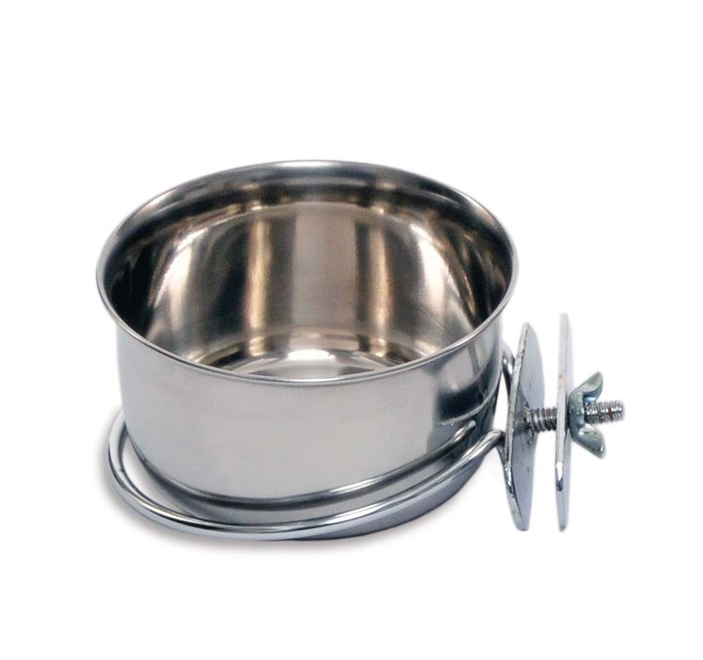 Prevue Pet Products Stainless Steel Coop Cup with Bolt-on (10oz)