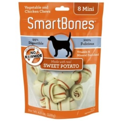 smarbones sweet potato flavor medium dogs 26 50 lbs 4 pack 250x250 - SmarBones - Sweet Potato Flavor (Medium - Dogs 26-50 Lbs [4 Pack])
