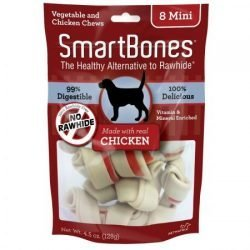 "SmartBones Chicken & Vegetable Dog Chews (Mini - 2"" Long - Dogs under 20 Lbs   [8 Pack])"