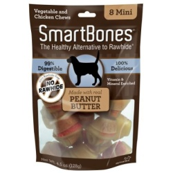 "smartbones peanut butter dog chews large 65 long dogs over 40 lbs 3 pack 250x250 - SmartBones Peanut Butter Dog Chews (Large - 6.5"" Long - Dogs over 40 Lbs [3 Pack])"