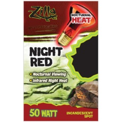 Zilla Night Red Incandescent Spot Bulb 50W