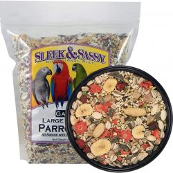 Sleek & Sassy Garden Large Hookbill Parrot Food for Large Conures, Amazons, African Greys, Cockatoos, Pionus-Parrots & Small Macaws