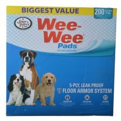 four paws wee wee pads original 200 pack box 22 long x 23 wide 250x250 - True Chews Premium Jerky Cuts with Real Chicken (12 oz)