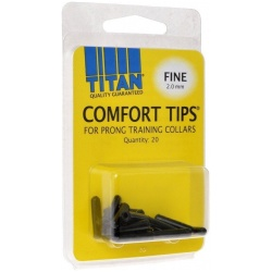titan comfort tips for prong training collars medium 30 mm 22 count 250x250 - Titan Comfort Tips for Prong Training Collars (Medium [3.0 mm] - 20 Count)