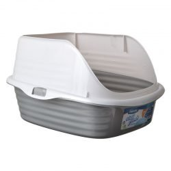 "25259 250x250 - Petmate Litter Pan with Rim (Large [18.5""L x 15.3""W x 6.8""H])"