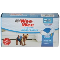 Four Paws Wee Wee Diaper Garment Pads (24 Pads)