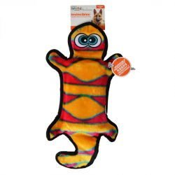 """32312 250x250 - Invincibles Orange & Yellow Gecko Dog Toy (4 Squeakers - 18"""" Long)"""