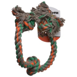 "Flossy Chews Colored 3 Knot Tug Rope (X-Large - 36"" Long)"