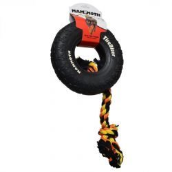 """34382 250x250 - Mammoth Tire Biter Dog Chew Toy w/ Colored Flossy Rope [ Large - 10"""" Diameter ]"""