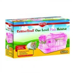 "Kaytee CritterTrail One Level Habitat - Pink (16""L x 10.5""W x 11""H)"