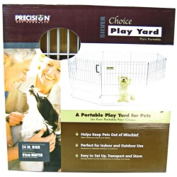 "36926 250x250 - Precision Pet Silver Choice Exercise Pen Model SXP (24"" Tall & 4' x 4' Suqare)"