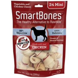 "40067 250x250 - SmartBones Chicken & Vegetable Dog Chews (Mini - 2"" Long - Dogs under 20 Lbs [24 Pack])"