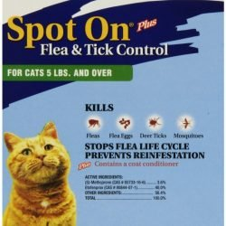 47600 250x250 - Zodiac Spot on Plus Flea & Tick Control for Cats & Kittens (Cats over 5 lbs [4 Pack])