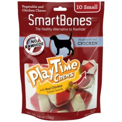 "56109 250x250 - SmartBones PlayTime Chews for Dogs - Chicken (Small - 10 Pack - [1.25""-1.5"" Diameter Chews])"