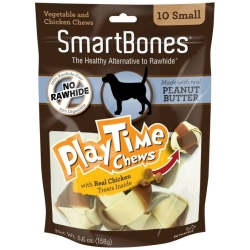 "56115 250x250 - SmartBones PlayTime Chews for Dogs - Peanut Butter (Small - 10 Pack - [1.25""-1.5"" Diameter Chews])"