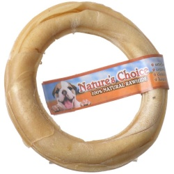 "62398 250x250 - Loving Pets Nature's Choice Pressed Rawhide Donut (Large - [6"" Diameter])"