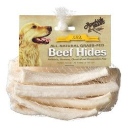 """Rawhide Brand Eco Friendly Beef Hide Natural Flat Spiral Rolls (5"""" Rolls [12 Pack])"""