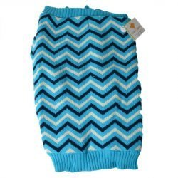 """65297 250x250 - Lookin' Good Chevron Dog Sweater - Blue (Large [Dogs 19""""-24"""" Neck to Tail])"""