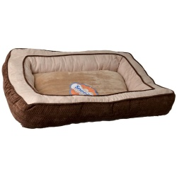 "66684 250x250 - Precision Pet Snoozzy Chevron Chenille Gusset Dog Bed - Chocolate (27""L x 36""W)"