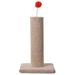 """67024 250x250 - Classy Kitty Carpeted Cat Post with Spring Toy (16"""" High [Assorted Colors])"""