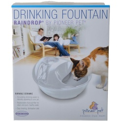 70165 250x250 - Pioneer Raindrop Ceramic Drinking Fountain - White (60 oz)