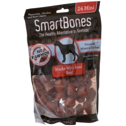 "70671 250x250 - SmartBones Beef & Vegetable Dog Chews (Mini - 24 Pack - 2.5"" Bones - [5-10 lb Dogs])"
