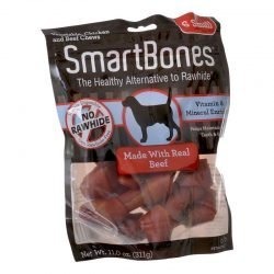 "70674 250x250 - SmartBones Beef & Vegetable Dog Chews (Small - 6 Pack - 5"" Bones - [11-25 lb Dogs])"