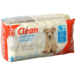 "72142 250x250 - Dog It Clean Disposable Diapers (Small - 12 Pack - 8-15 lb Dogs - [13-19"" Waist])"