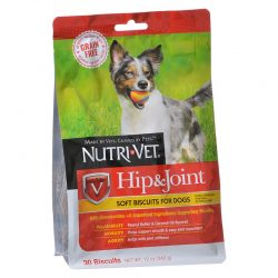 72508 250x250 - Nutri-Vet Hip & Joint Grain Free Soft Biscuits for Dogs (30 Biscuits - [12 oz])