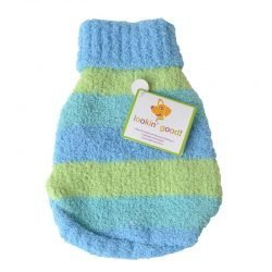"""72571 250x250 - Lookin Good Striped Dog Sweater - Blue (Small - [Fits 10""""-14"""" Neck to Tail])"""