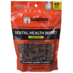 75015 250x250 - Indigenous Dental Health Mini Bones - Smoked Bacon Flavor (40 Count)