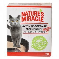 Nature's Miracle Intense Defense Odor Control Clumping Litter - Unscented (20 lbs)