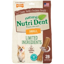 83091 250x250 - Nylabone Natural Nutri Dent Filet Mignon Dental Chews - Limited Ingredients (Small - 28 Count)