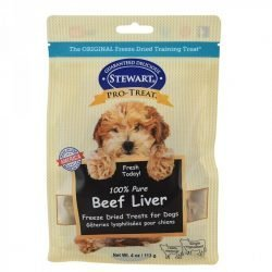 83450 250x250 - Stewart 100% Beef Liver Freeze Dried Dog Treats (12 oz)
