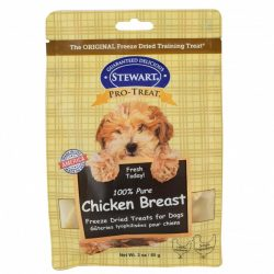 83456 250x250 - Stewart 100% Pure Chicken Breast Freeze Dried Dog Treats (3 oz)