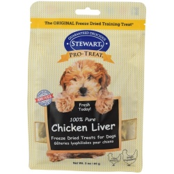 83462 250x250 - Stewart 100% Pure Chicken Liver Freeze Dried Dog Treats (3 oz)