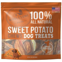 85902 250x250 - Wholesome Pride Sweet Potato Chews Dog Treats (16 oz)