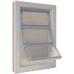 """Ideal Pet Products Air-Seal Pet Door Extra Large White 2.25"""" x 13.75"""" x 18.62"""""""