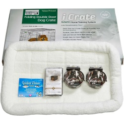"""Midwest iCrate Dog Crate Kit Large 36"""" x 23"""" x 25"""""""