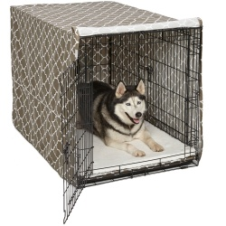 """Midwest QuietTime Defender Covella Dog Crate Cover Brown 48"""" x 30"""" x 33"""""""