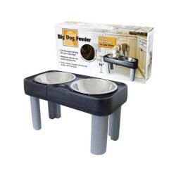 "our pets big dog feeder black gray 27 x 13 x 16 250x250 - Our Pets Big Dog Feeder Black / Gray 27"" x 13"" x 16"""