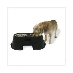 "our pets healthy pet diner elevated dog feeder medium black 235 x 13 x 8 250x250 - Our Pets Healthy Pet Diner Elevated Dog Feeder Medium Black 23.5"" x 13"" x 8"""
